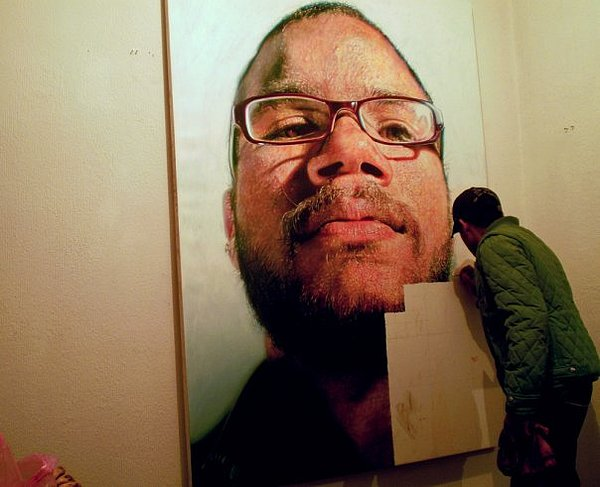 Portrait Painting - Working On Frank by Kamalky Laureano