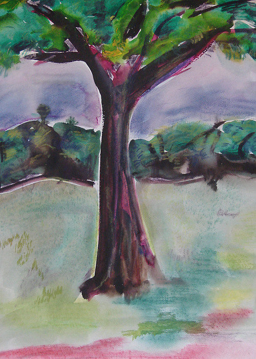 Tree Painting - Wounded Tree by Rima Bidkar