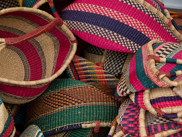 Color Photograph - Woven Baskets by Walter Beck