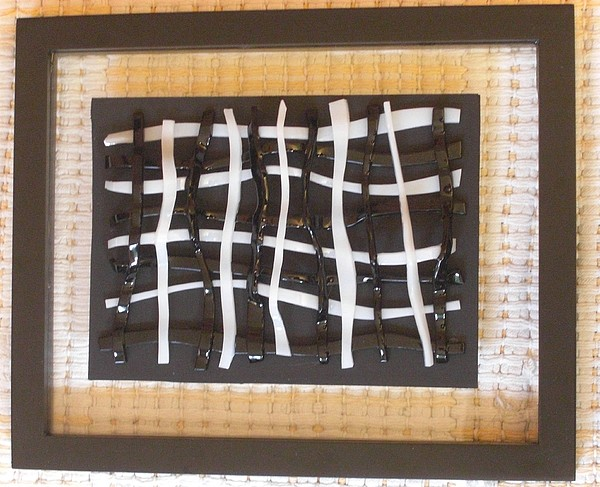 Fused Glass Glass Art - Woven Glass -3 by Judy Jones