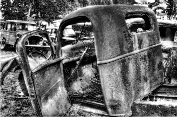 Wrecking Yard Study 11 Photograph by Lee Santa