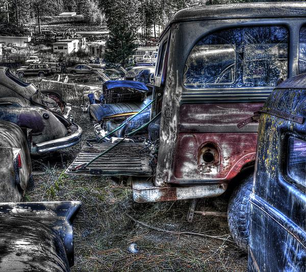Automotive Photograph - Wrecking Yard Study 13 by Lee Santa