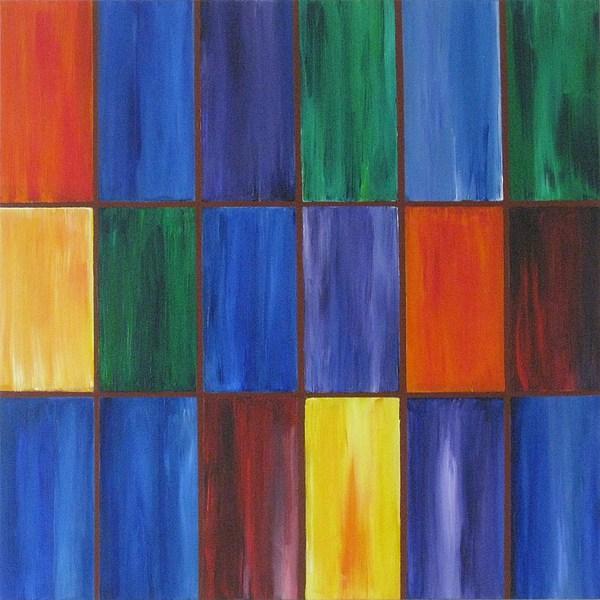Rectangles Painting - wRectangles by Deborah Schuster