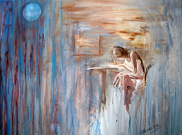 Write Painting - Writing My Heart Out. by Gladiola Sotomayor