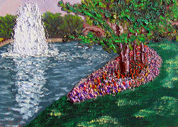 Fountain Painting - Wrsp August  by Stan Hamilton