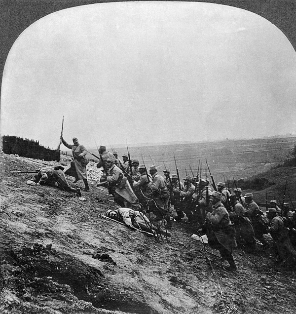 Army Photograph - Wwi: French Attack by Granger