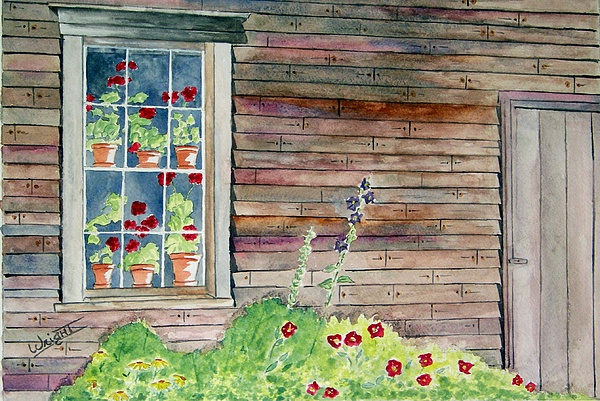 Tempera Paintings Painting - Wyeth House In Tempera Paint by Larry Wright