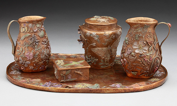 Bronze Sculpture - Wyoming Wildflowers Bronze Set by Dawn Senior-Trask