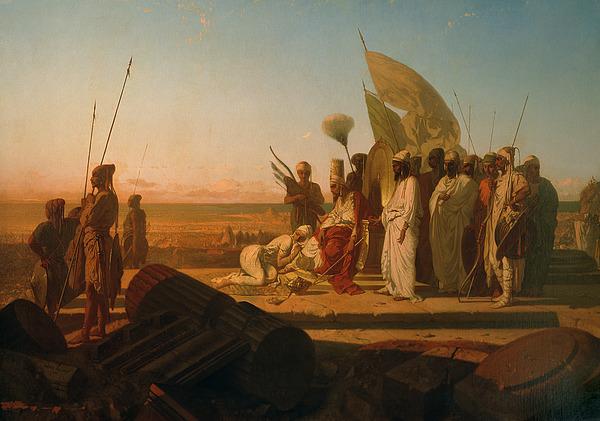 Xerxes Painting - Xerxes At The Hellespont by Jean Adrien Guignet