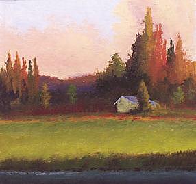 Landscape Painting - Yaak Cabin - 0ne by Dalas  Klein