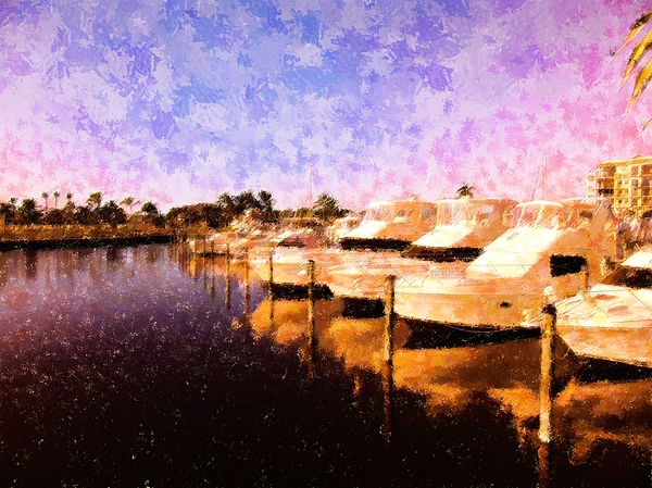 Boats Mixed Media - Yacht Club Row by Florene Welebny