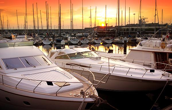 Anchor Photograph - Yacht Marina by Carlos Caetano