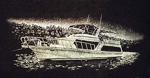 Yacht Drawing - Yacht by Ric Larson