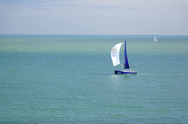 Isle Of Wight Photograph - Yachts Sailing In Ventnor Bay by Rod Johnson