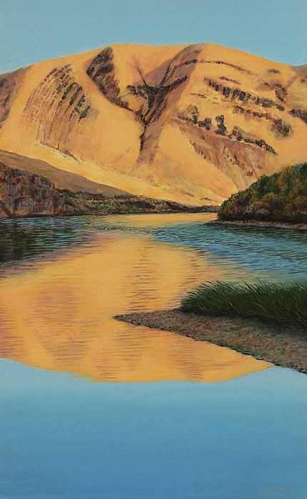 Yakima Canyon Painting by Laurie Stewart