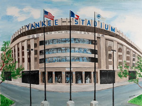 New York Painting - Yankee Stadium by Paul Cubeta