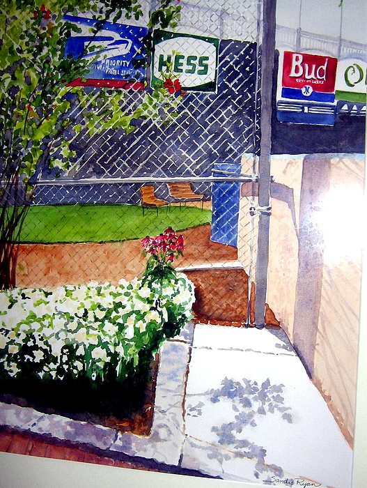 Ballpark Painting - Yankee Stadium by Sandy Ryan