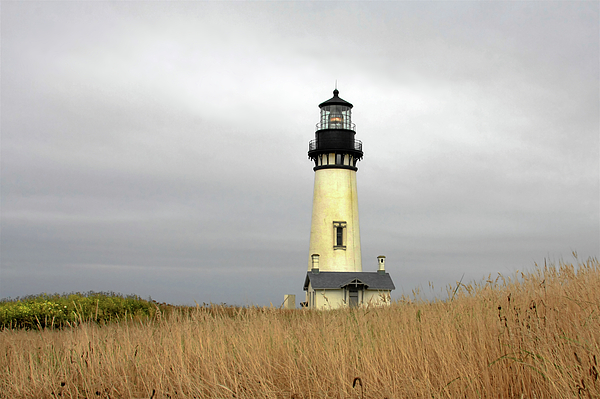 Yaquina Head Lighthouse Photograph - Yaquina Lighthouses - Yaquina Head Lighthouse Western Oregon by Christine Till