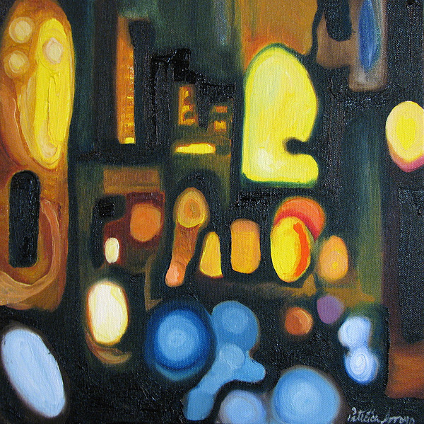 Abstract Painting - Yellow And Blue by Patricia Arroyo