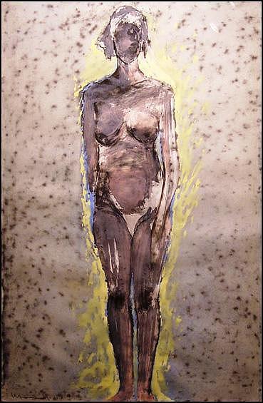 Manuel Neri Drawing - Yellow Aura by Manuel Neri