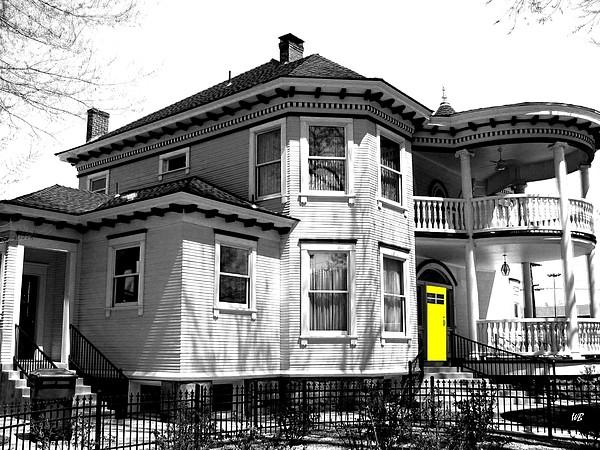 House Digital Art - Yellow Door by Will Borden