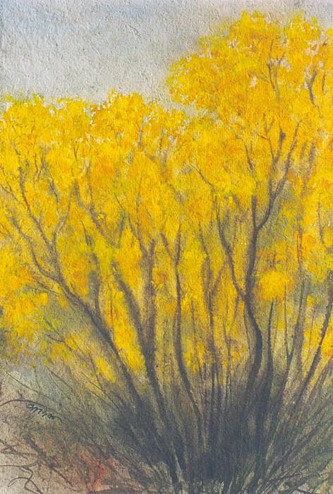 Yellow Flower Painting by Sadek Ali