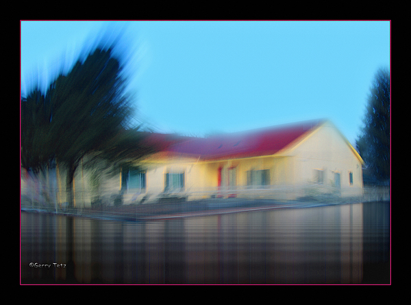 House Photograph - Yellow House by Gerry Tetz