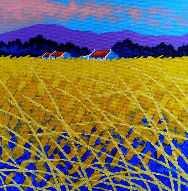 Ireland Painting - Yellow Meadow by John  Nolan