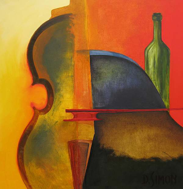 Modern Painting - Yellow Rapsodie by David Simon