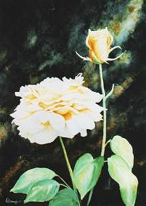 Rose Painting - Yellow Rose by Kris Killman