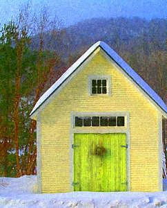 Barn Photograph - Yellow Shed by Suerae Stein