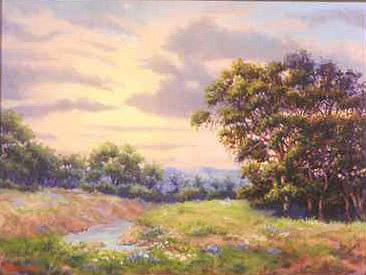 Oak Trees Painting - Yellow Skies by Roberta Sharp
