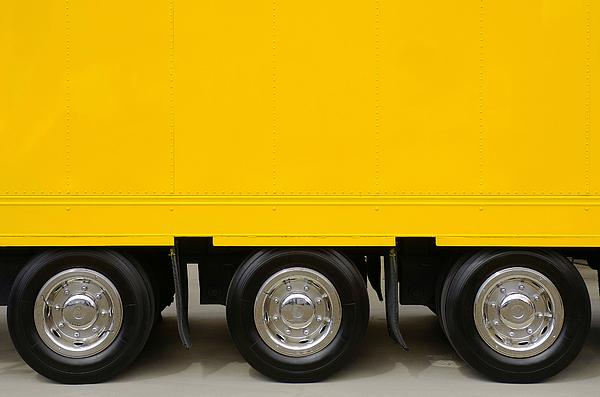 Advertising Photograph - Yellow Truck by Carlos Caetano