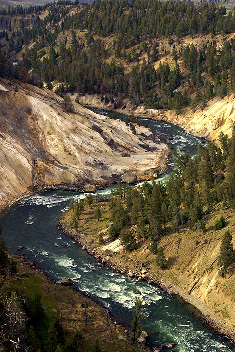 Yellowstone National Park Photograph - Yellowstone River Canyon by Marty Koch