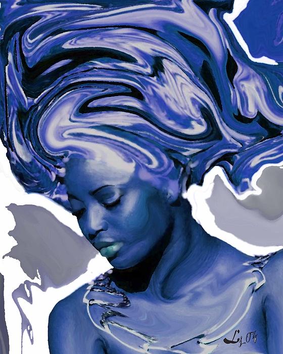 Yemaya Painting - Yemaya Okute by Liz Loz
