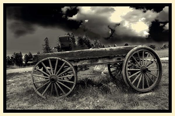 Black White Photograph - Yesterday by Myrna Migala