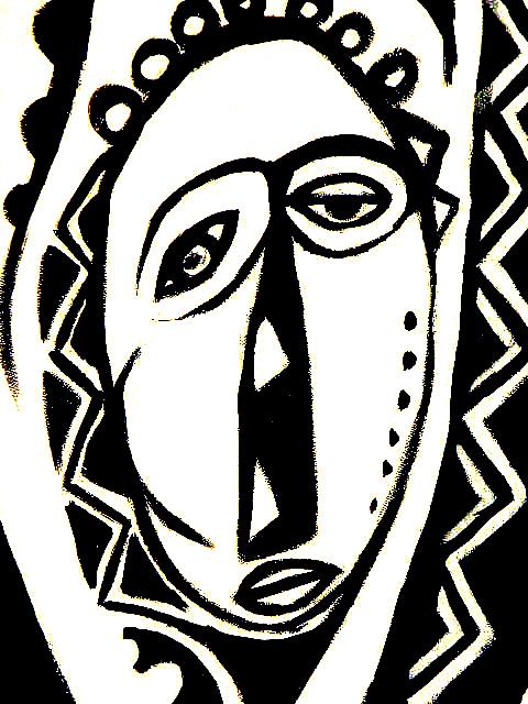 Black And White Painting - Yesterdays Dream by Robert Daniels