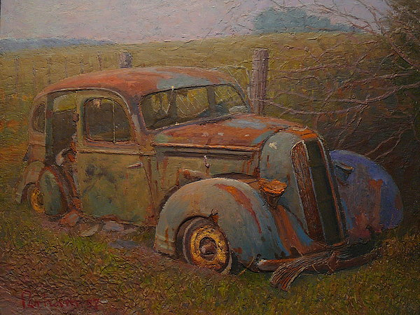 Rust Painting - Yesteryear by Terry Perham