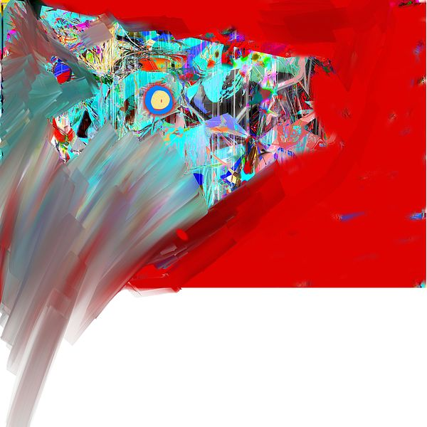 Abstract Digital Art - Yikes by Dave Kwinter