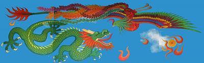 Dragon Painting - Yin Vs Yang by Lana Cheng