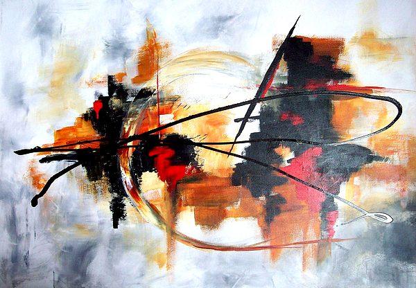 Modern Painting - Ying Yang by Jane Robinson