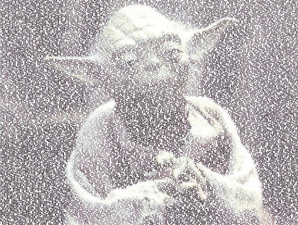 Star Wars Mixed Media - Yoda Quotes Mosaic by Paul Van Scott