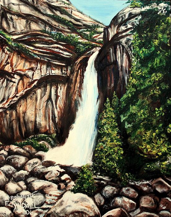 Landscape Painting - Yosemite Falls by Elizabeth Robinette Tyndall