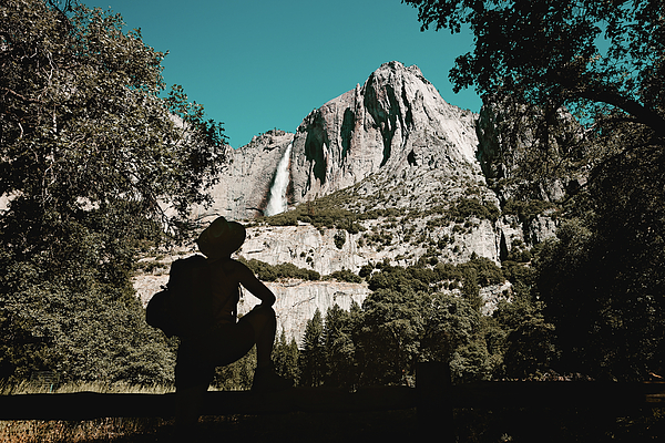 America Photograph - Yosemite Hiker by Marji Lang