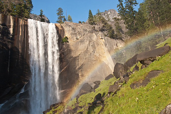 Yosemite National Park Photograph - Yosemite Mist Trail Rainbow by Shane Kelly