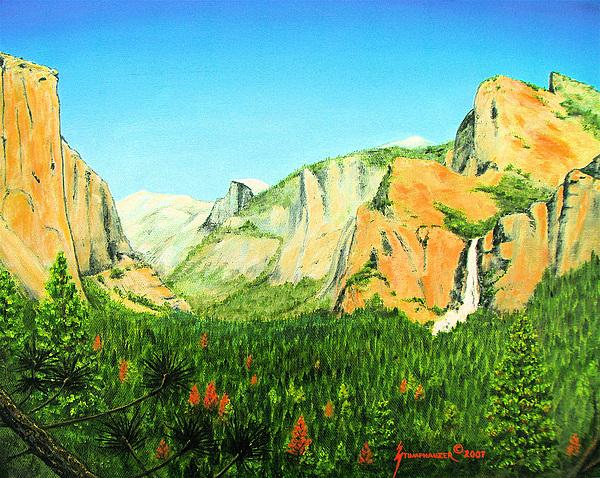 Yosemite National Park Painting - Yosemite National Park by Jerome Stumphauzer