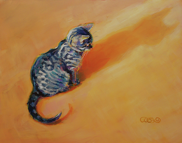 Cat Painting - You Are My Sunshine by Kimberly Santini