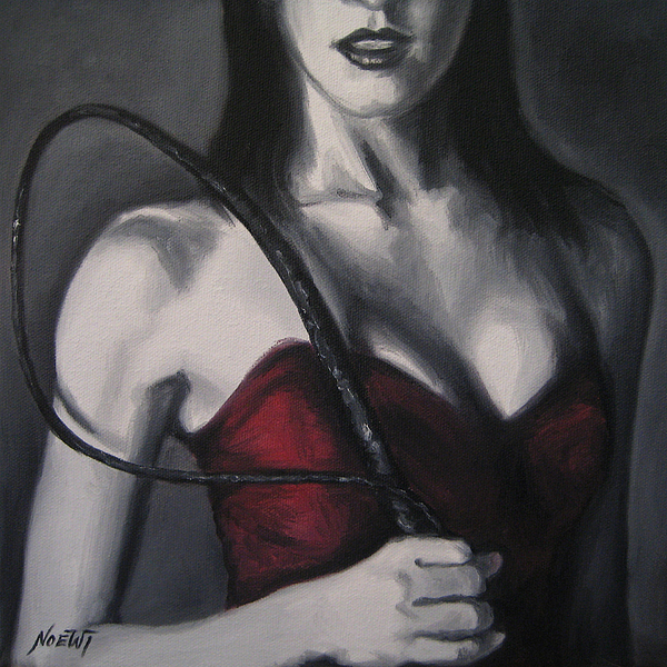 Female Painting - You Have Been Naughty by Jindra Noewi