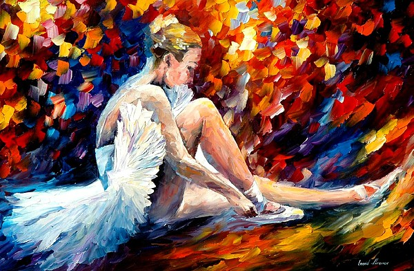 Dancer Painting - Young Ballerina by Leonid Afremov