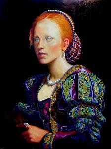 Elizabethan Painting - Young Bess by RC Bailey
